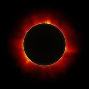 New moon solar eclipse